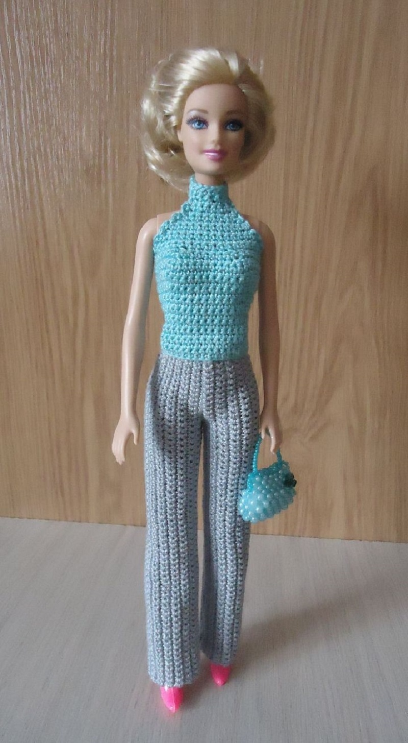 Вязание крючком штанишек для кукол 5