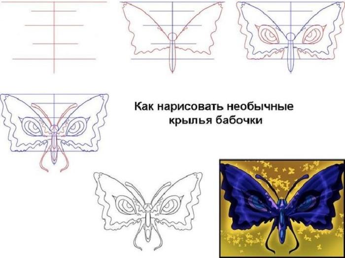 Как сделать бабочек поэтапно
