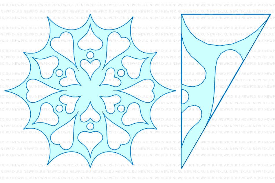 Как вырезать красивые снежинки из бумаги своими руками 32