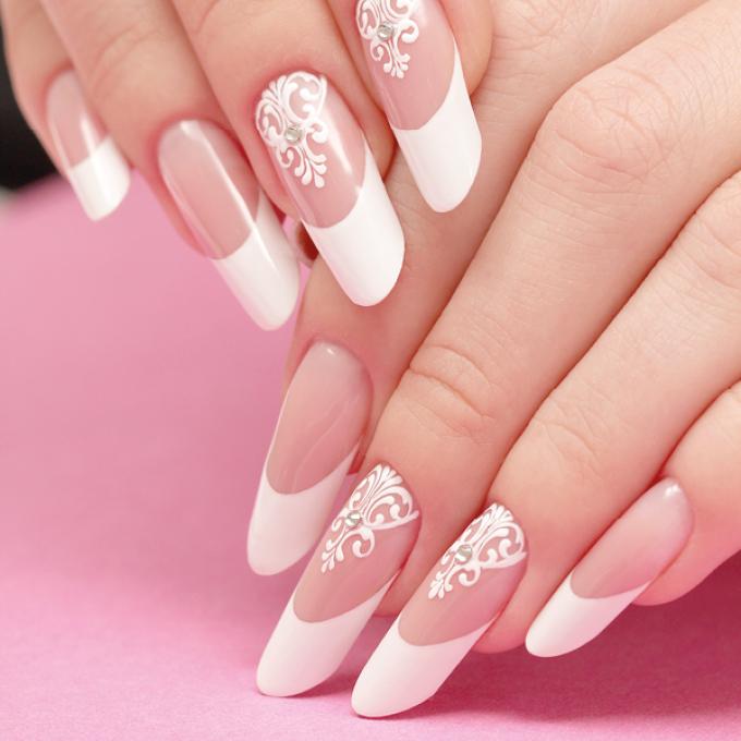 Красивые арочные ногти