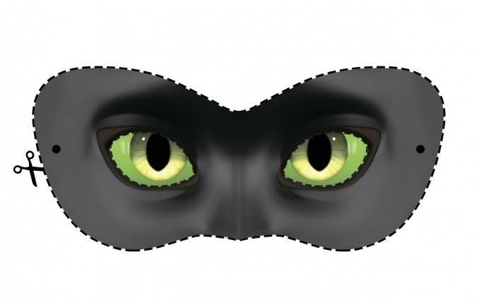 Как сделать маску супер кота фото