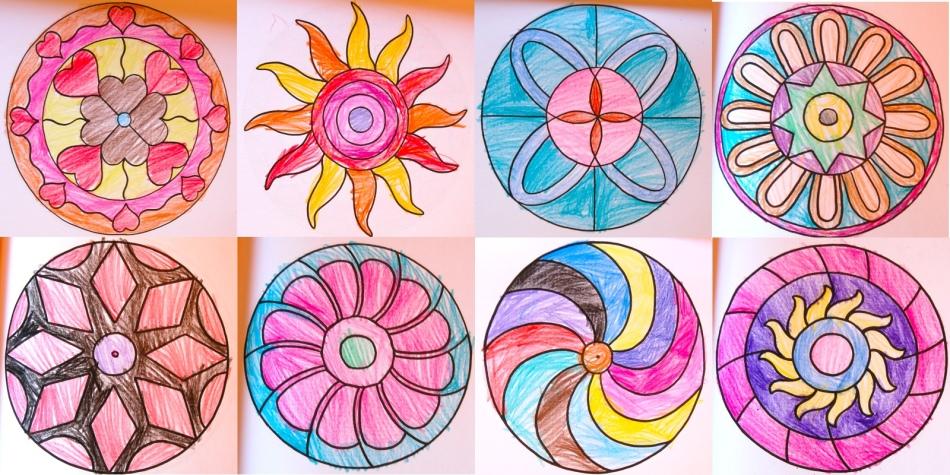 Мандалы рисовать детям