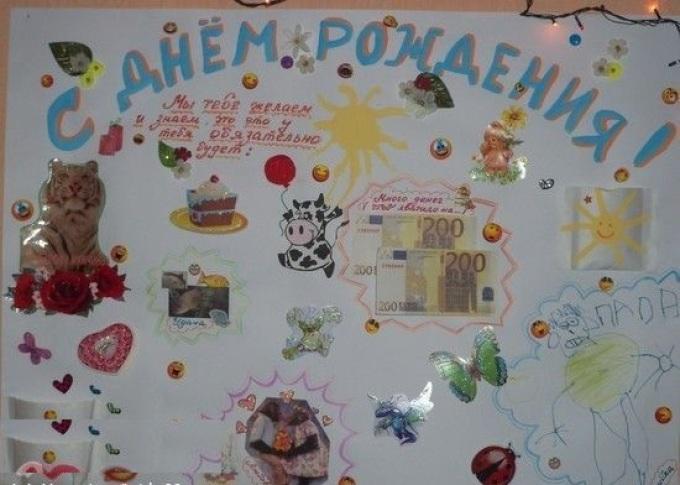 Плакат ко дню рождения своими руками папе