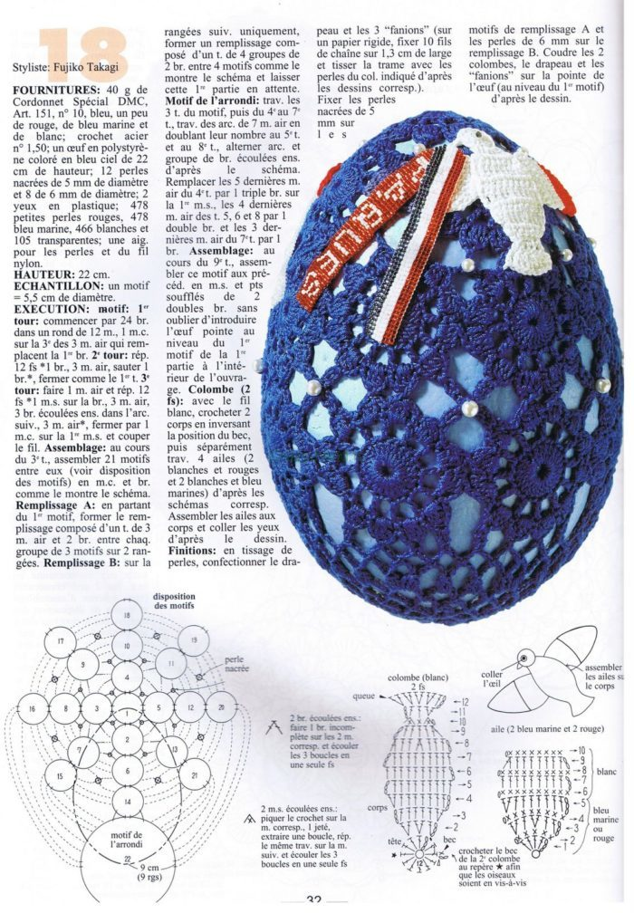 Схемы для вязания на пасху