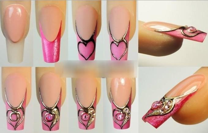 Как сделать жидкие камни из геля на ногтях