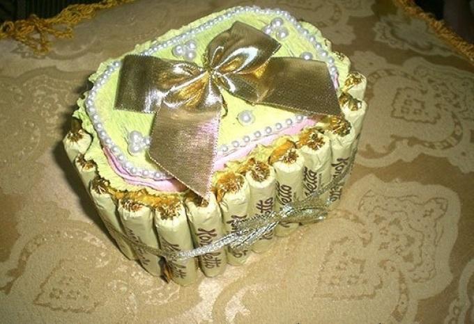 Шкатулка из конфет своими руками мастер