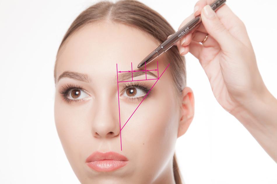 Схема индивидуальной коррекции бровей