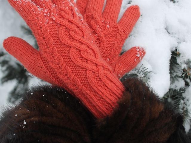 Вяжем перчатки спицами схемы 131
