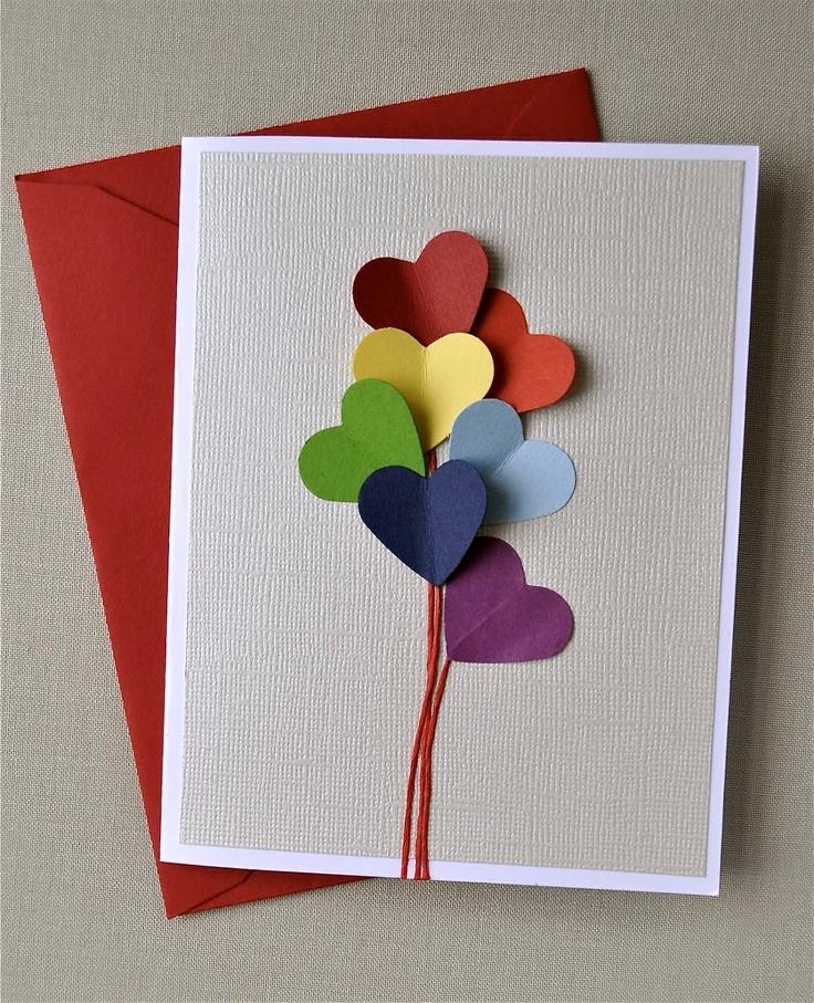Легкие открытки из картона и бумаги своими руками