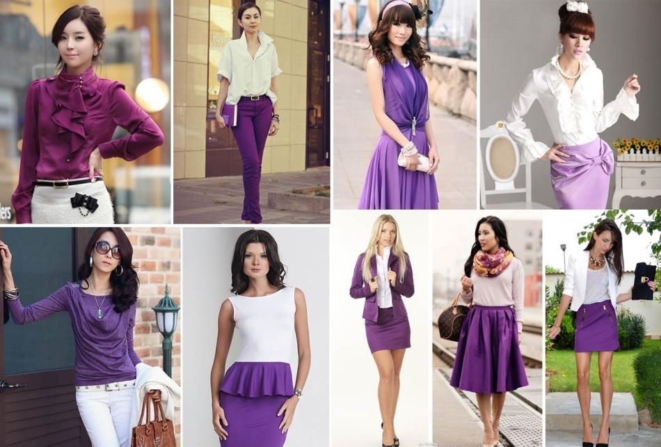 Красивые образы в белом и фиолетовом цвете
