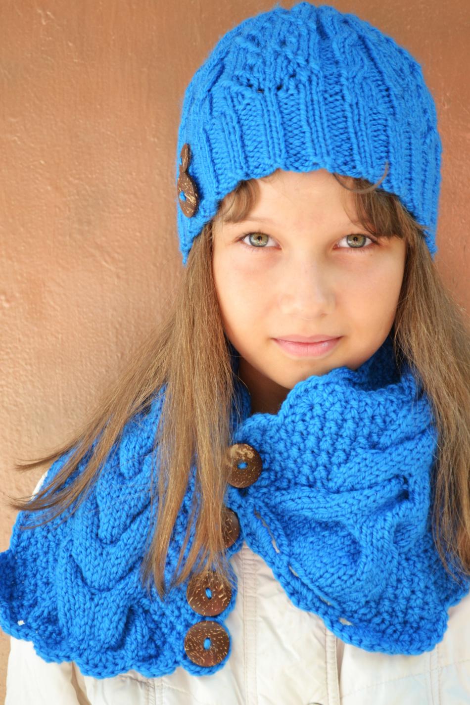 вязаные зимние снуды шарфы трубы схемы