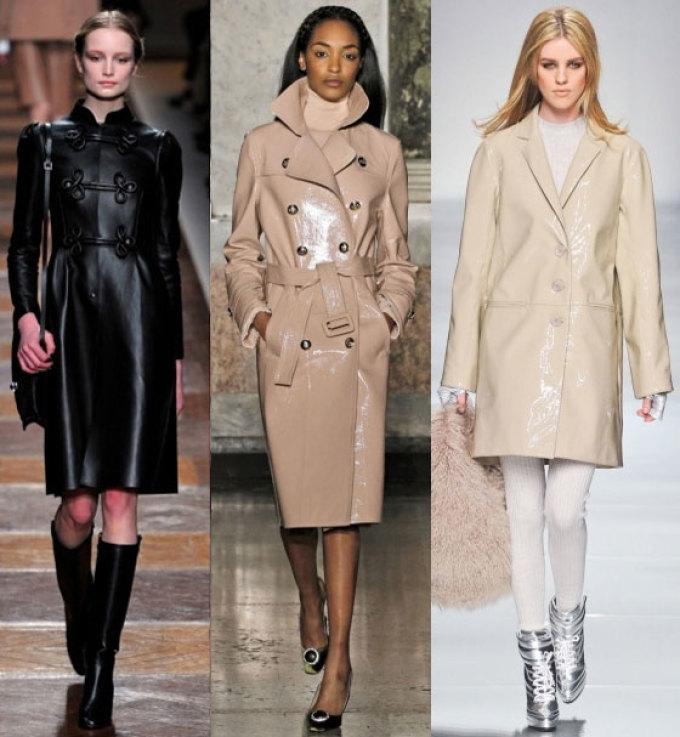 кожаное пальто женское демисезонное