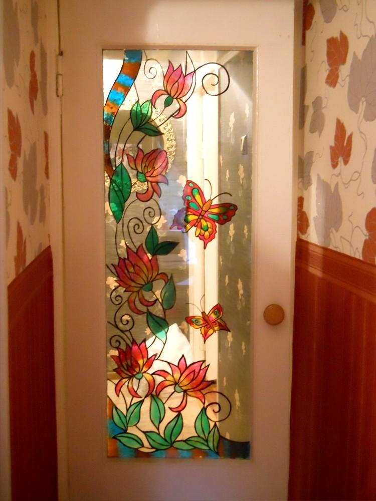 Дверь своими руками со стеклом 334