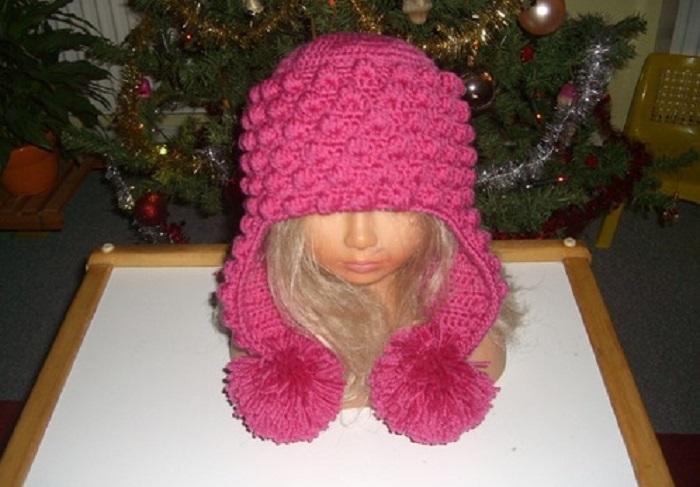 Зимняя шапка для девочек сшить 30