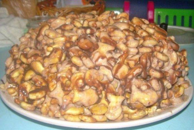Торт из печения со сметаной