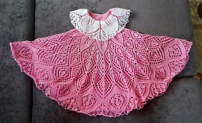 Схема юбки спицами павлиний хвост