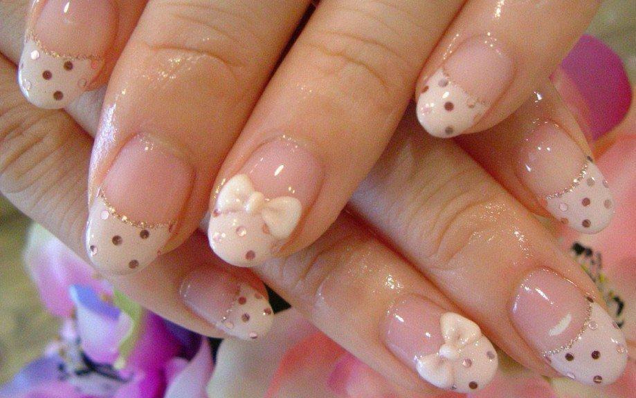 Рисунки на круглые короткие ногти