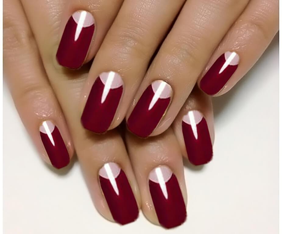 Ногти бордовый цвет дизайн