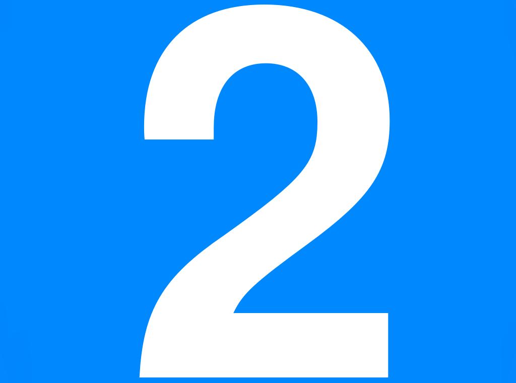 Шаблон цифры 2