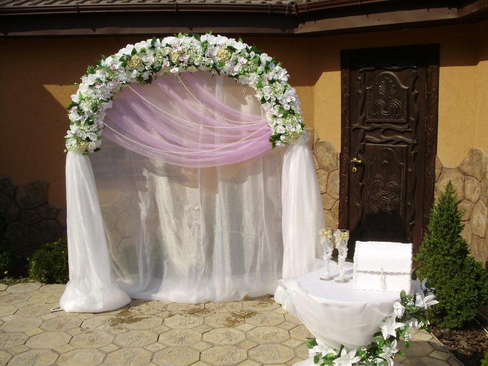 Оформление арки на свадьбу фото своими руками