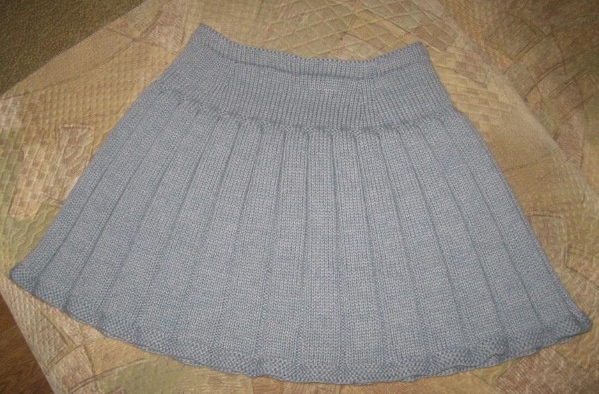 Связанная спицами юбка ассоль