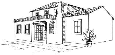 Дом своей мечты рисунок карандашом 41