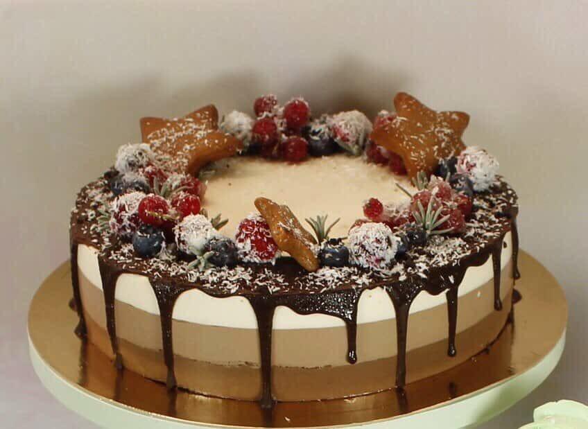 Украшения для торта «три шоколада»