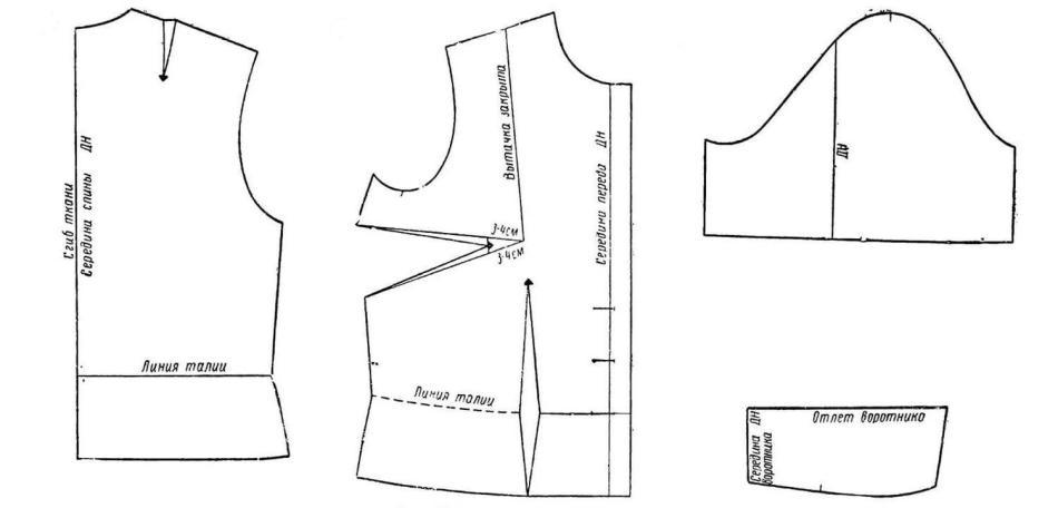 Как сшить блузку выкройка блузки 846