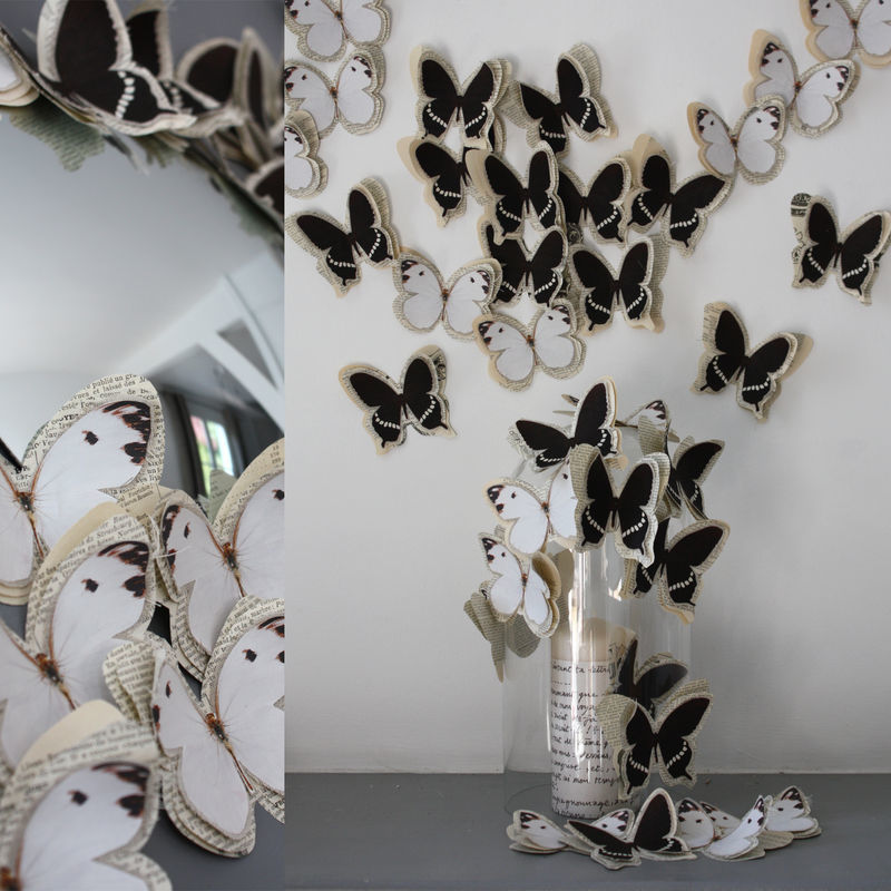 Украшение стен бабочками - Ремонт квартиры своими руками 93