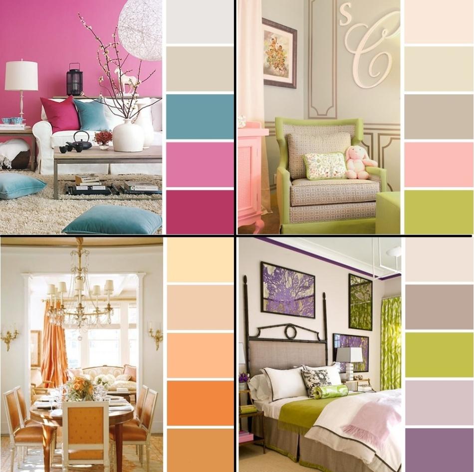 Дизайн интерьера сочетание цветов