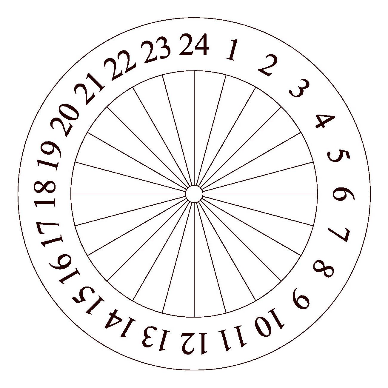 Как сделать солнечные часы своими руками 265