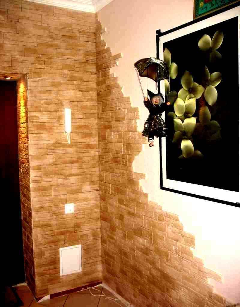 Пример №1 отделки внутренней части дома декоративным камнем из гипса
