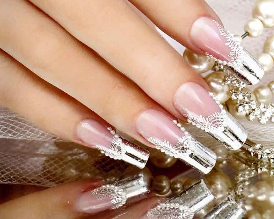 Френч на свадьбу ногти
