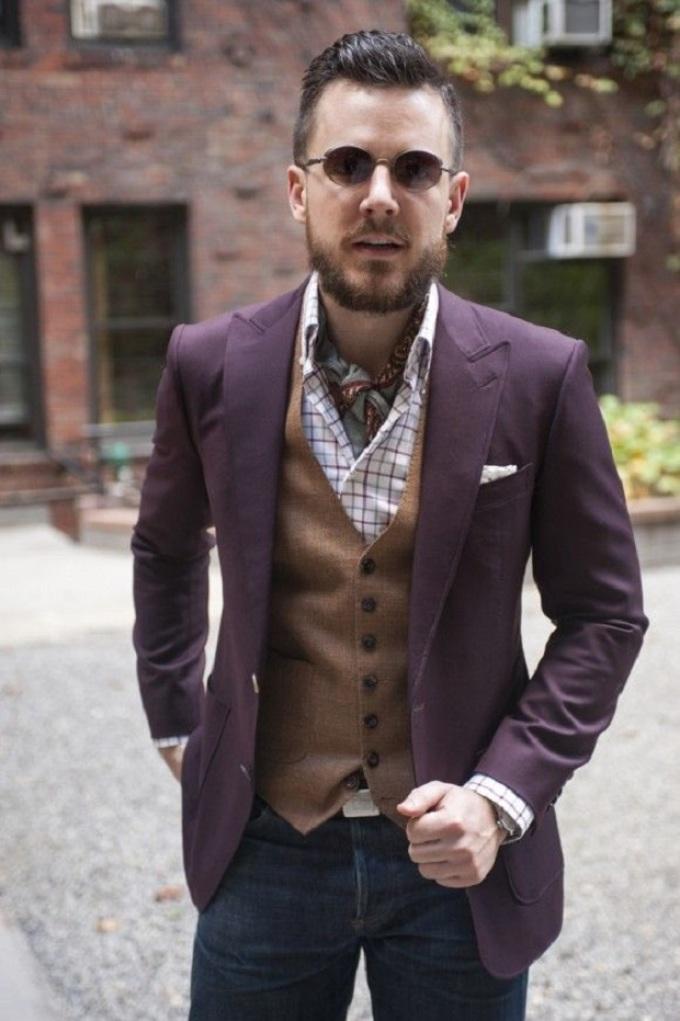 шейный платок мужской фото