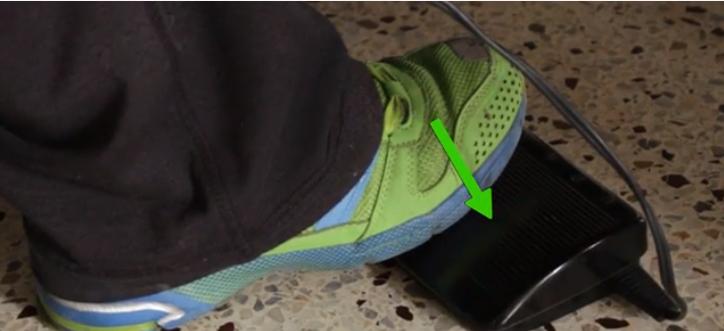 Проверить ножную педаль