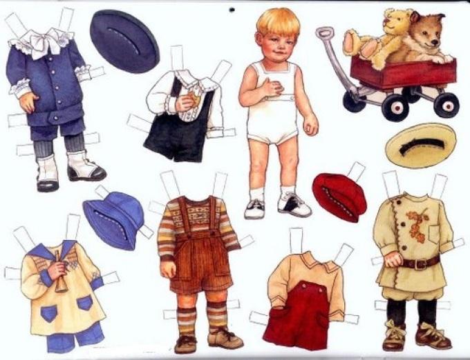 Бумажные куклы член мальчиков