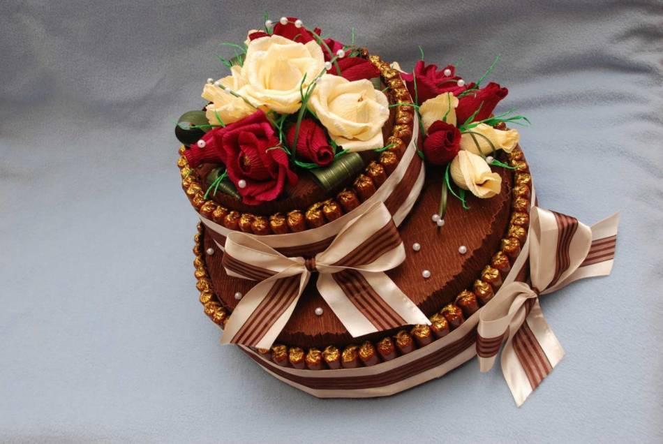 Торт из конфет рафаэлло пошаговое для начинающих 5