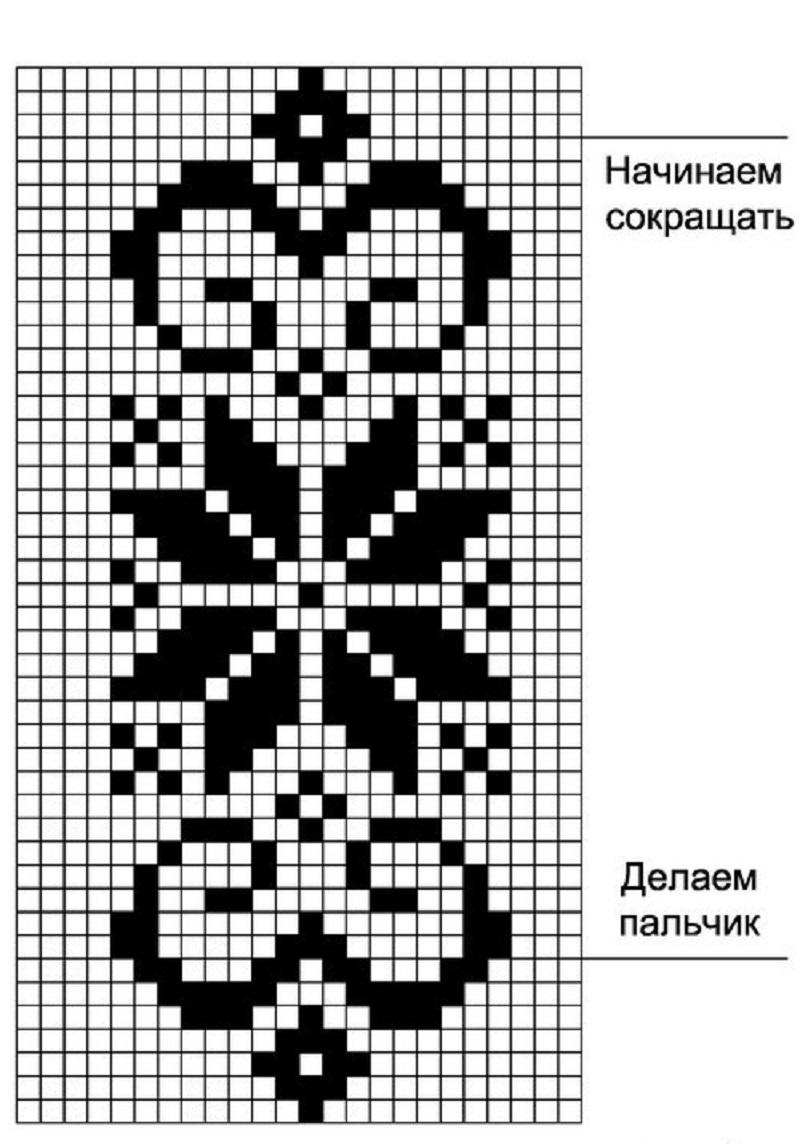 для вязания варежек спицами схемы для начинающих