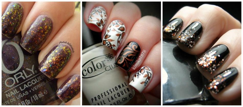 Осенние дизайны ногтей гель лаками фото