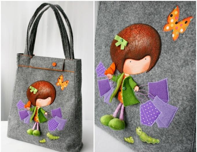Оригинальные сумки своими руками - интересный орнамент