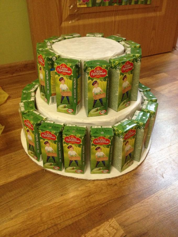 Торт из конфет и сока своими руками пошаговое 19