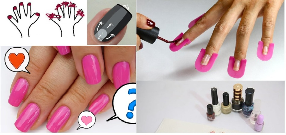 Как нарисовать ровно ногти