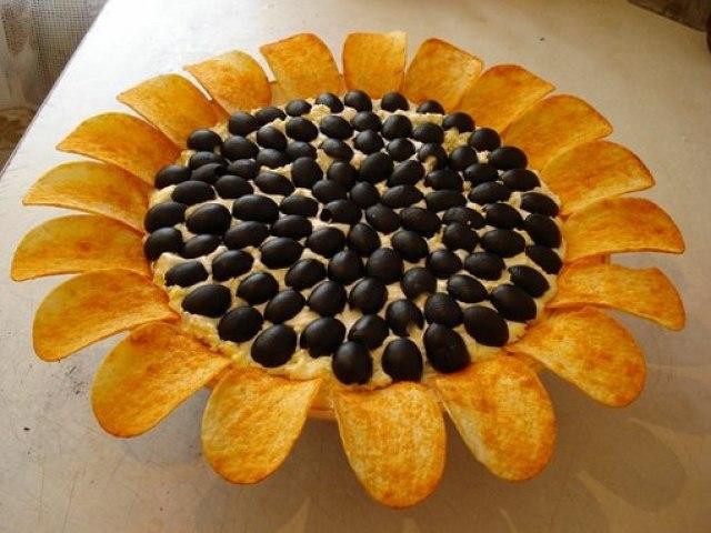 подсолнух салат рецепт с печенью минтая рецепт