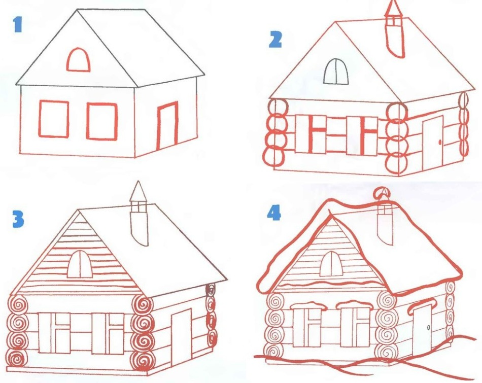 Как сделать дом поэтапно картинки 733