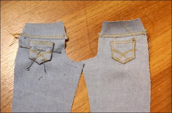 Из джинс своими руками куклы 531