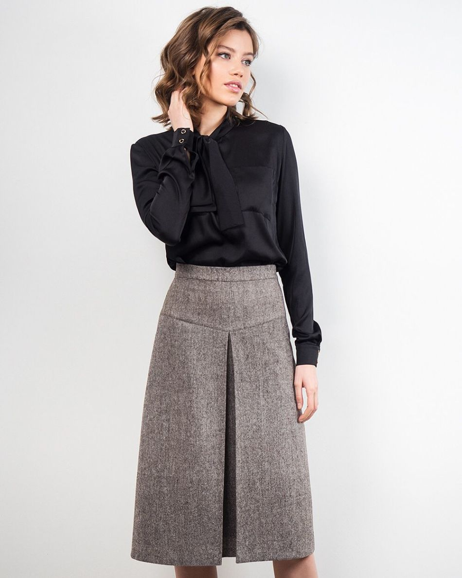 Как сшить юбку-брюки со складками: модели, выкройки, фото