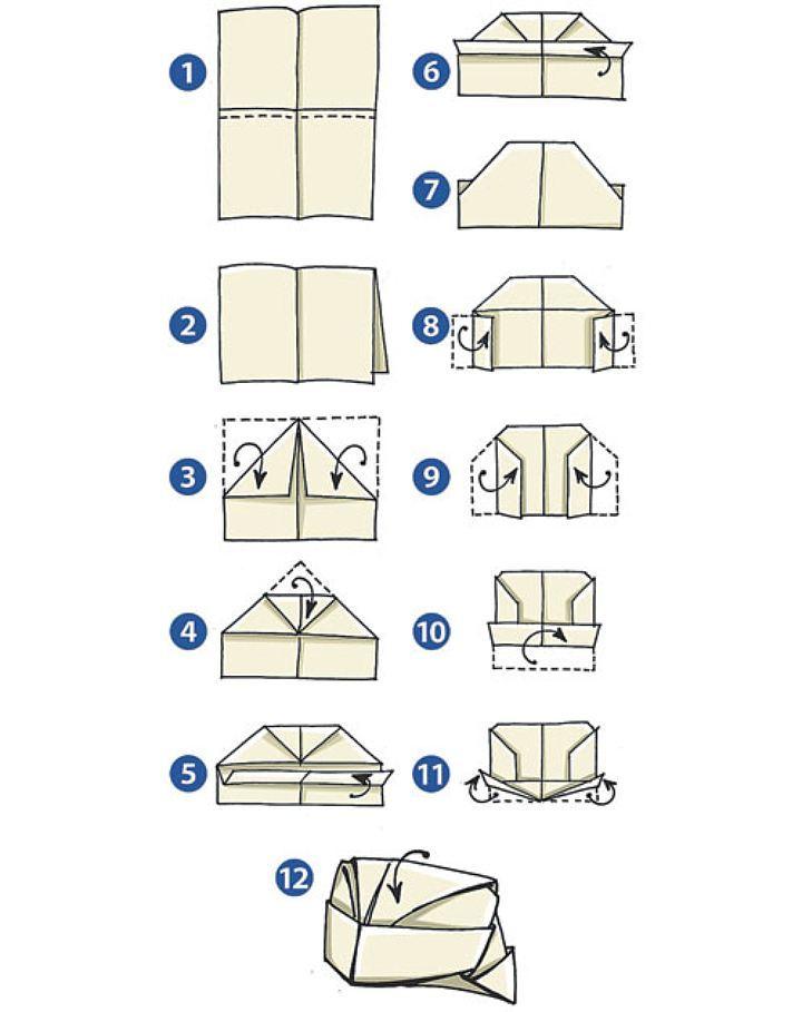 Как сделать шляпу из бумаги пошаговая инструкция фото