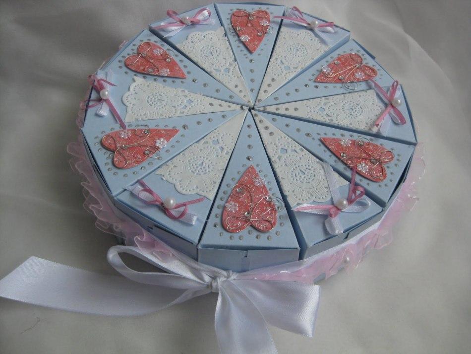 Кусочек торта из картона поделка