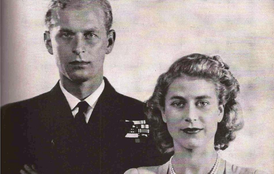 Королева великобритании елизавета ii с будущим мужем принцем филиппом