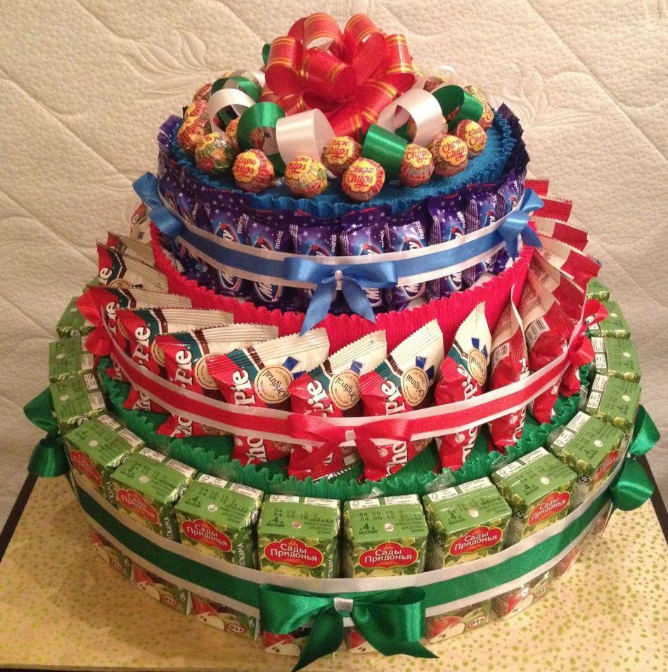 Торт из шоколадок и сока своими руками в детский сад 42